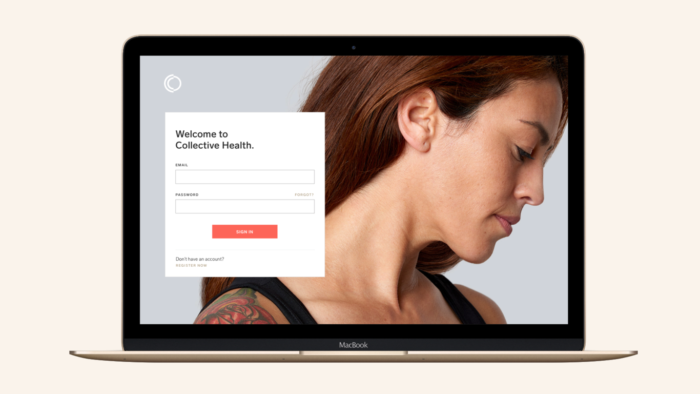 Olivia Paden – Homepage Gallery – Collective Health – Digital Member Experience – Login