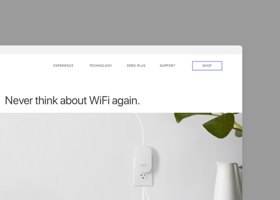 Eero — E-Commerce Website
